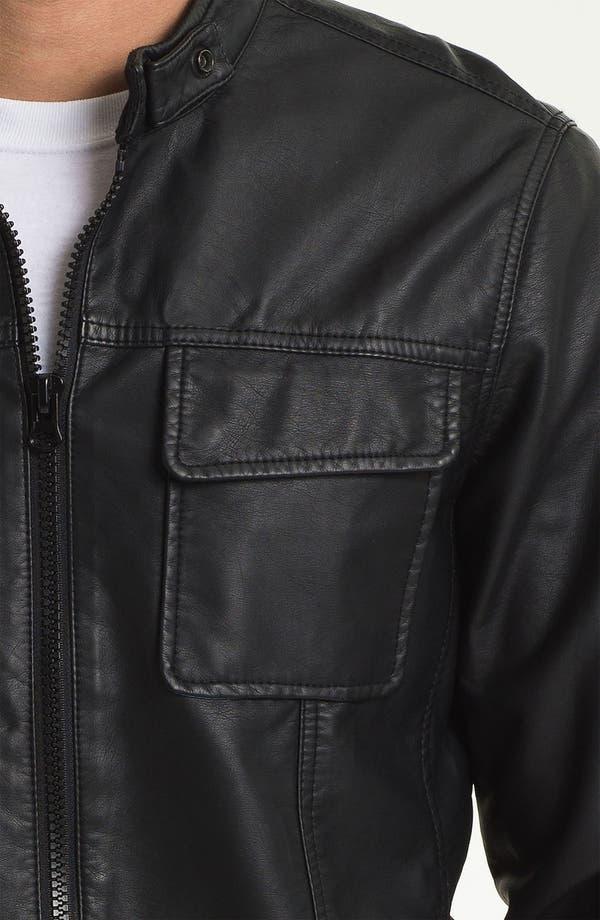 Alternate Image 3  - RVCA 'Crasher' Faux Leather Jacket