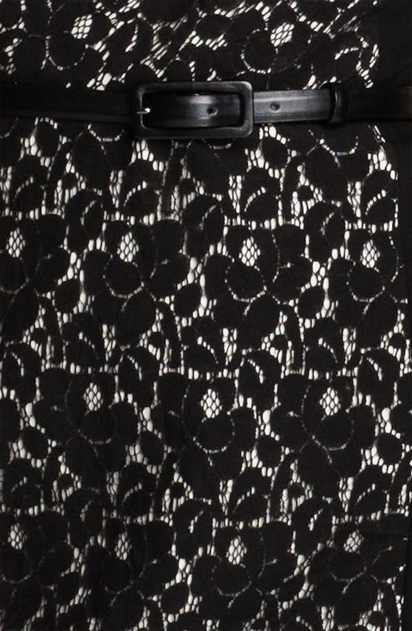 Alternate Image 3  - Classiques Entier® Belted Lace & Ponte Dress