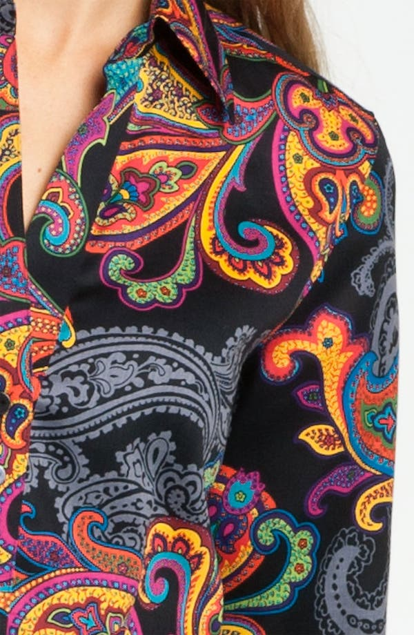 Alternate Image 3  - Foxcroft 'Holiday Paisley' Shirt (Petite)