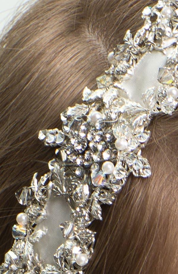 Alternate Image 2  - Halo & Co 'My Fairy Lady' Crystal Ribbon Headband