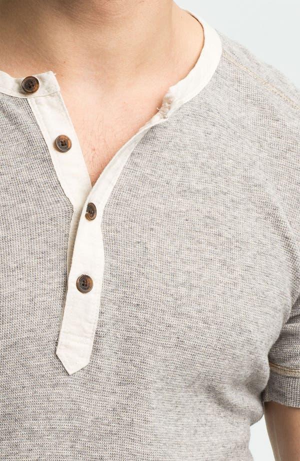 Alternate Image 3  - DIESEL® Waffle Knit Henley T-Shirt