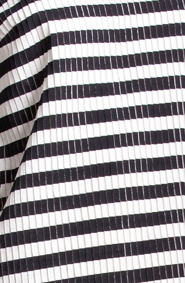 Alternate Image 5  - MSGM Stripe Silk & Cotton Top