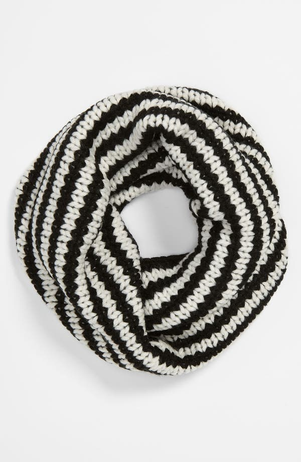 Alternate Image 1 Selected - Echo Stripe Knit Infinity Scarf (Girls)