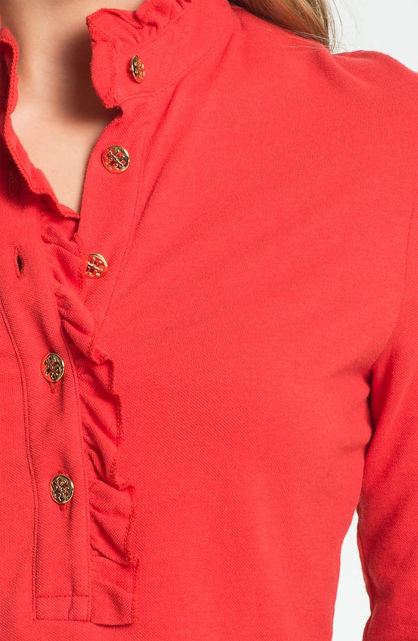 Alternate Image 3  - Tory Burch 'Lidia' Long Sleeve Polo