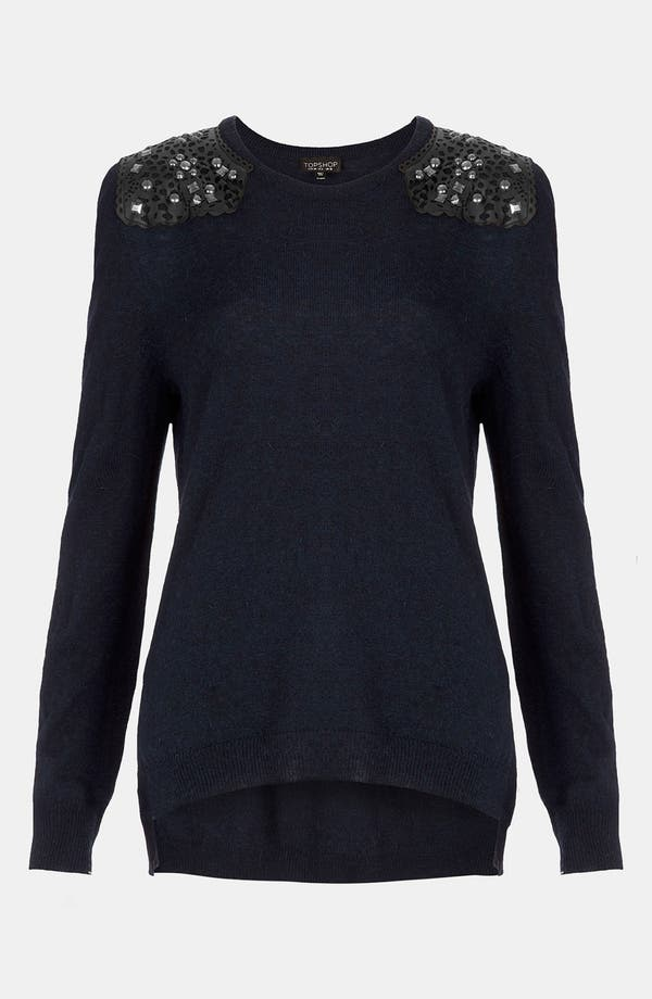 Main Image - Topshop Embellished Shoulder Sweater