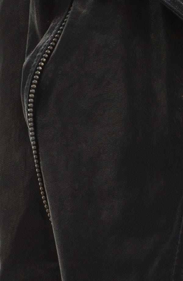 Alternate Image 3  - June Leather Biker Jacket
