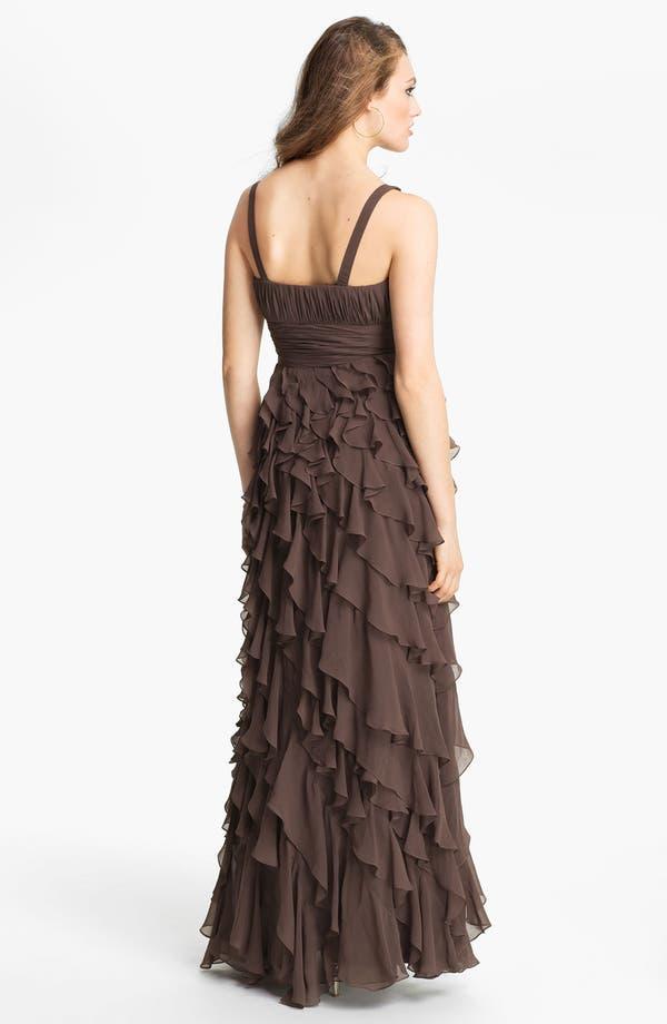 Alternate Image 2  - Dalia MacPhee Ruffle Chiffon Gown