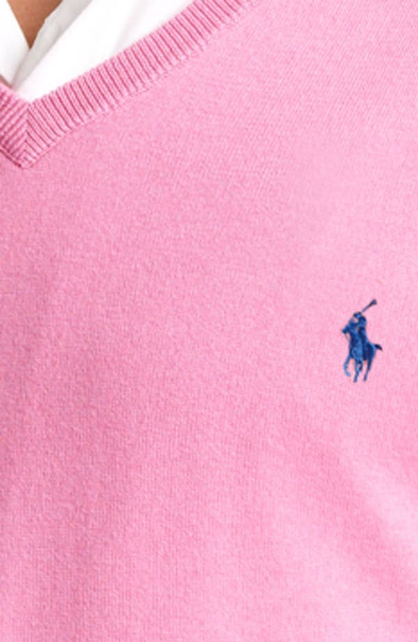 Alternate Image 3  - Polo Ralph Lauren Cotton & Cashmere V-Neck Sweater