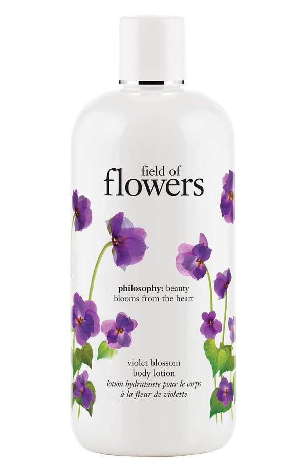 Alternate Image 1 Selected - philosophy 'field of flowers - violet blossom' body lotion