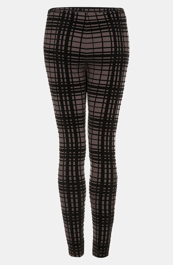 Alternate Image 1 Selected - Topshop Plaid Velvet Leggings