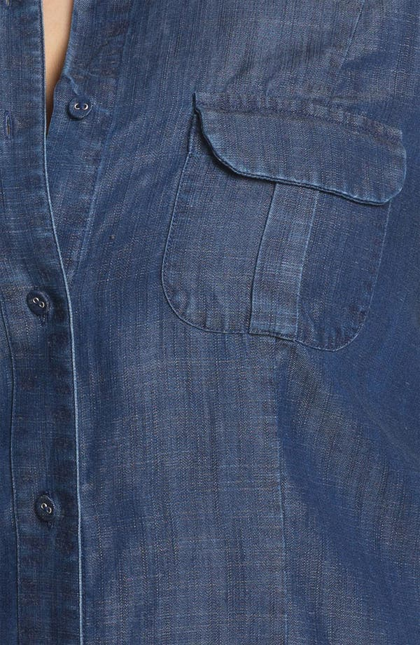 Alternate Image 3  - Foxcroft Long Sleeve Denim Shirt (Plus)