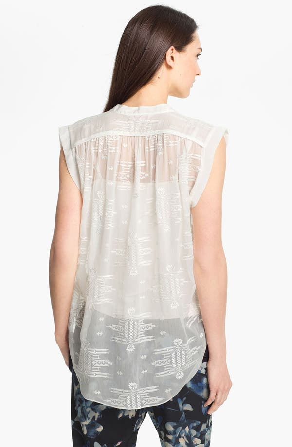 Alternate Image 2  - Rebecca Taylor Embroidered Silk Top