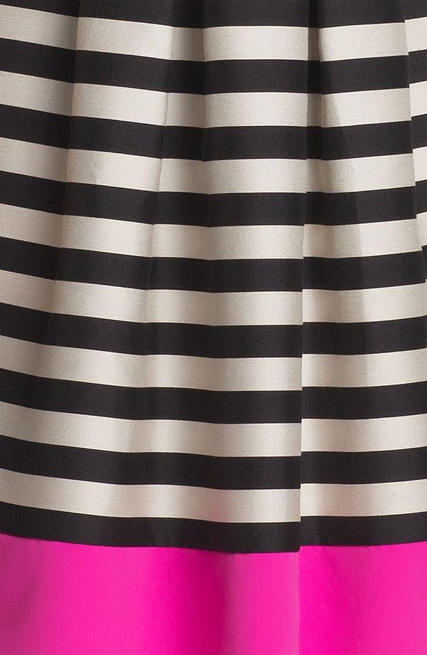 Alternate Image 3  - Eliza J Stripe Fit & Flare Dress (Plus Size)