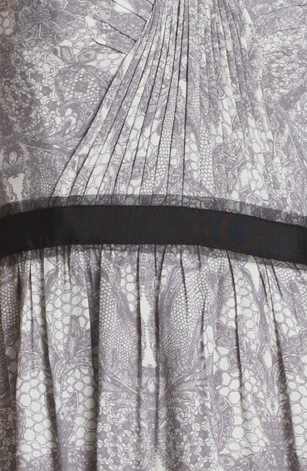 Alternate Image 3  - BCBGMAXAZRIA Strapless Print Chiffon Gown