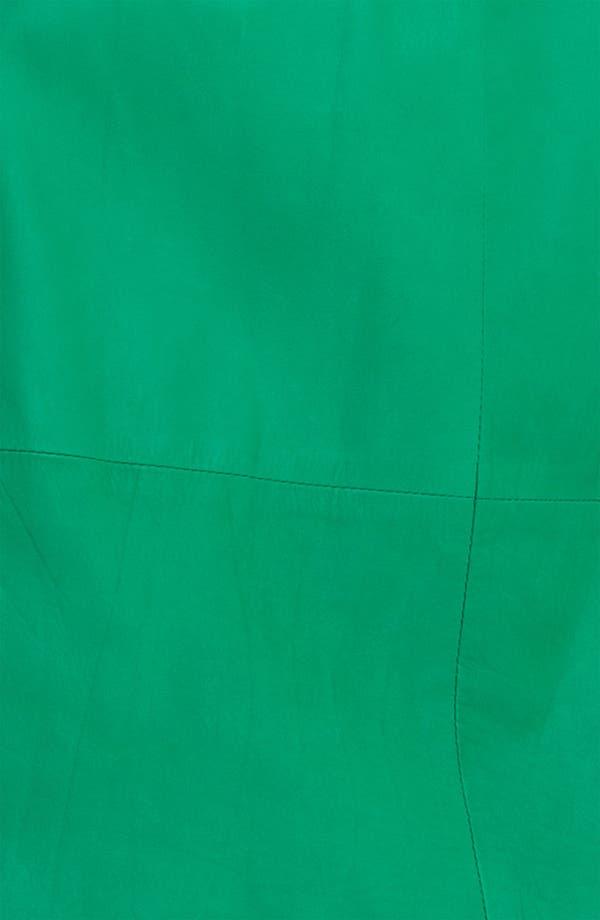 Alternate Image 3  - Tracy Reese Lambskin Leather Miniskirt