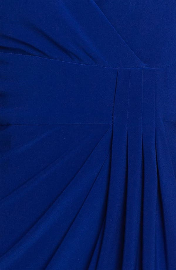 Alternate Image 3  - Adrianna Papell Side Drape Surplice Dress (Petite)