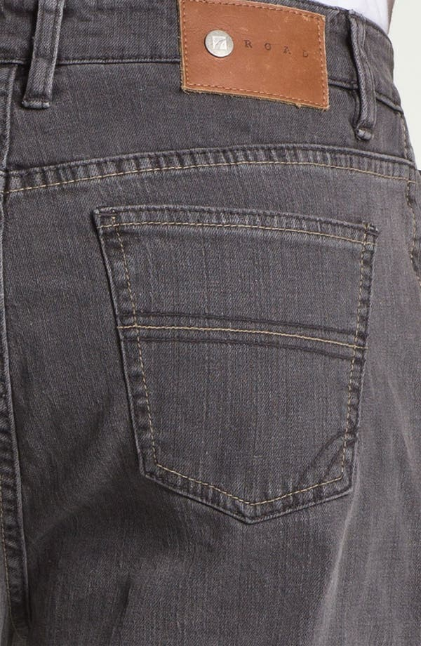 Alternate Image 4  - ROAD 'Abbey Stretch' Relaxed Fit Straight Leg Jeans (Smoke)
