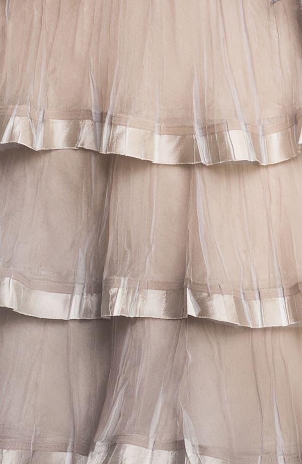 Alternate Image 3  - Black by Komarov Embellished Tiered Ombré Chiffon Dress