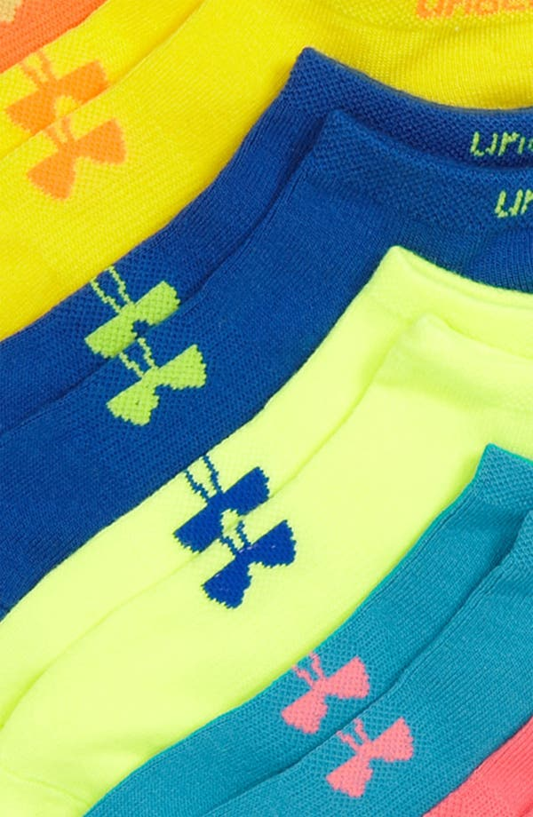Alternate Image 2  - Under Armour Neon No-Show Socks (Six-Pack)