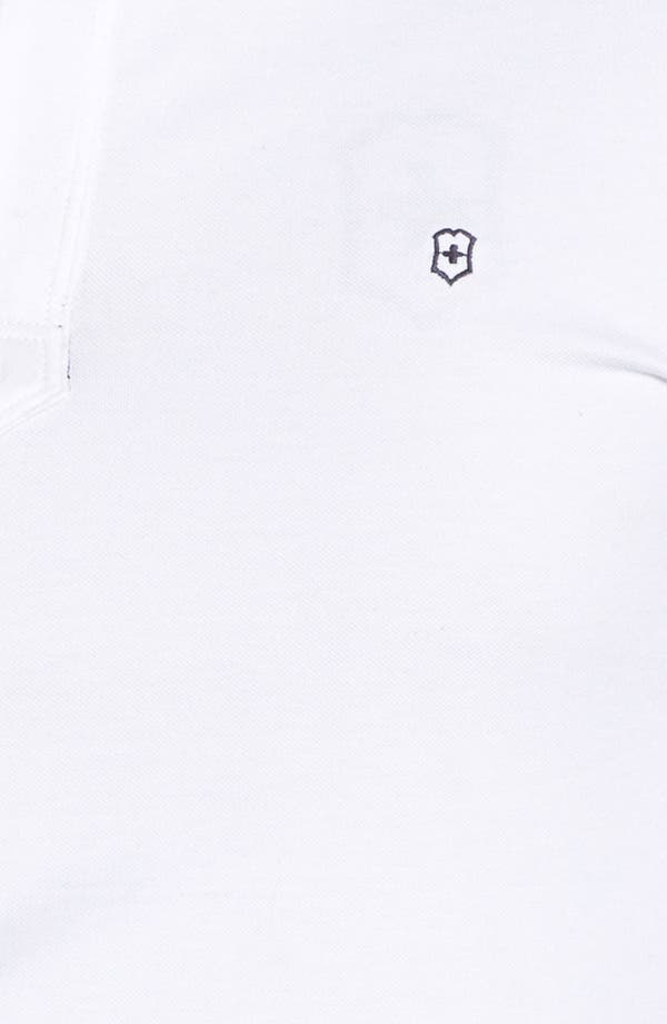Alternate Image 3  - Victorinox Swiss Army® Quarter Zip Mock Neck Polo (Online Only)