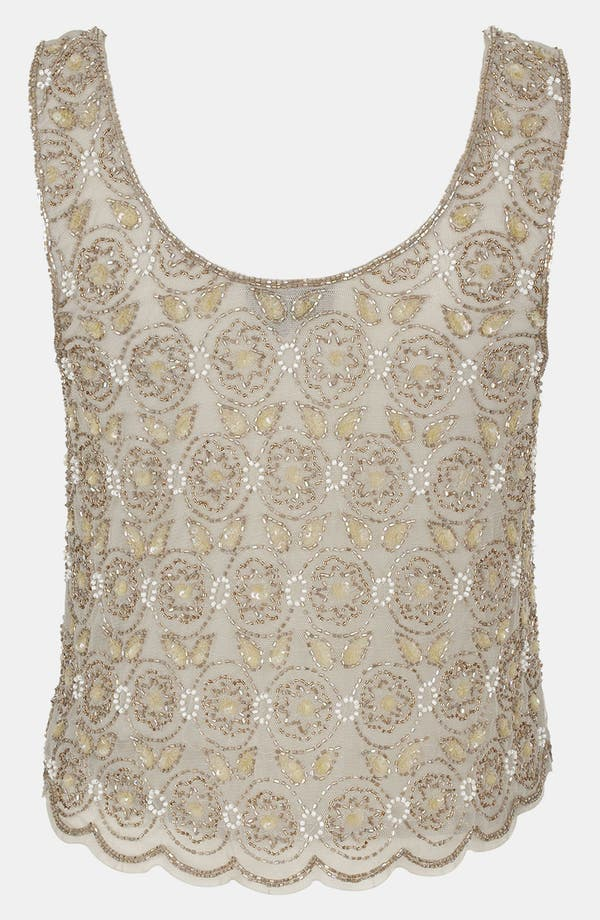 Alternate Image 2  - Topshop Floral Beaded Tank