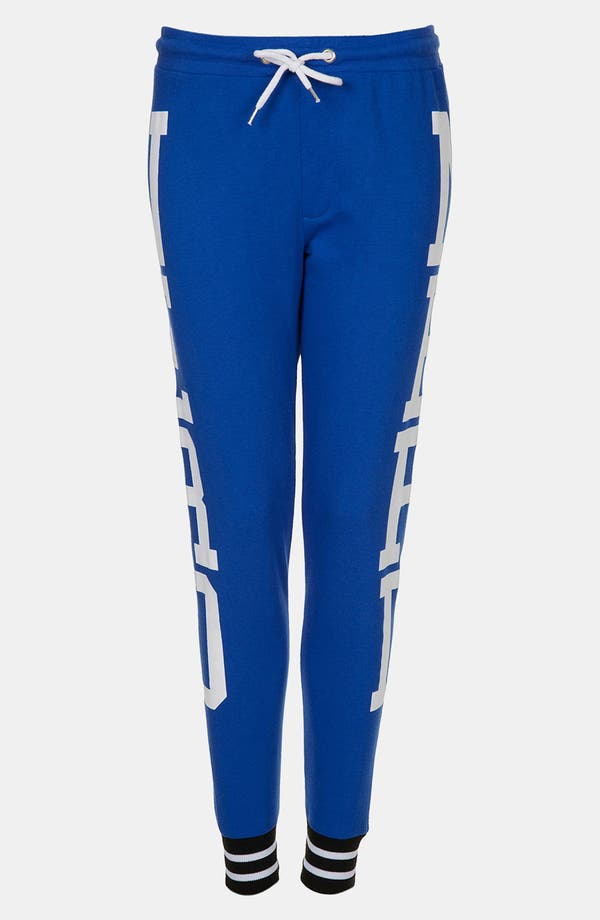 Alternate Image 1 Selected - Topshop 'Nerd' Graphic Tapered Sweatpants