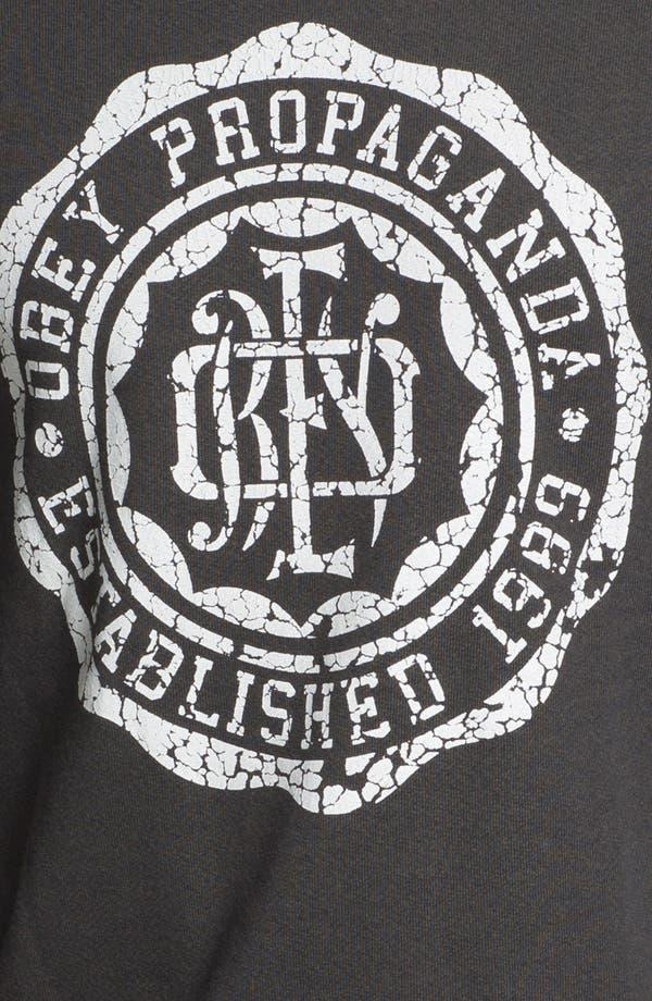Alternate Image 3  - Obey 'College Crest' Graphic Crewneck Sweatshirt.