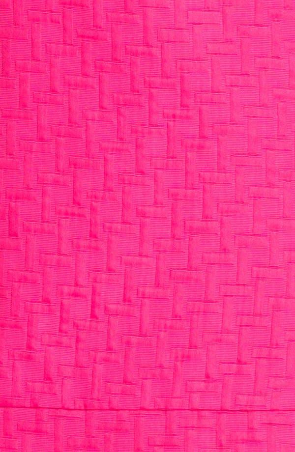 Alternate Image 3  - Eliza J Cap Sleeve Jacquard Shift Dress (Petite)