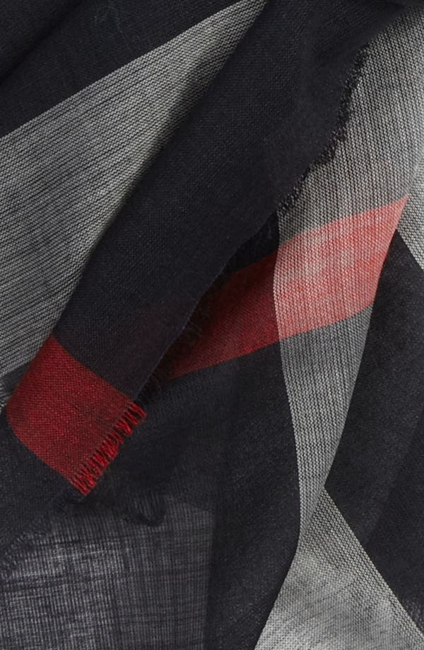 Alternate Image 2  - Burberry Check Gauze Scarf