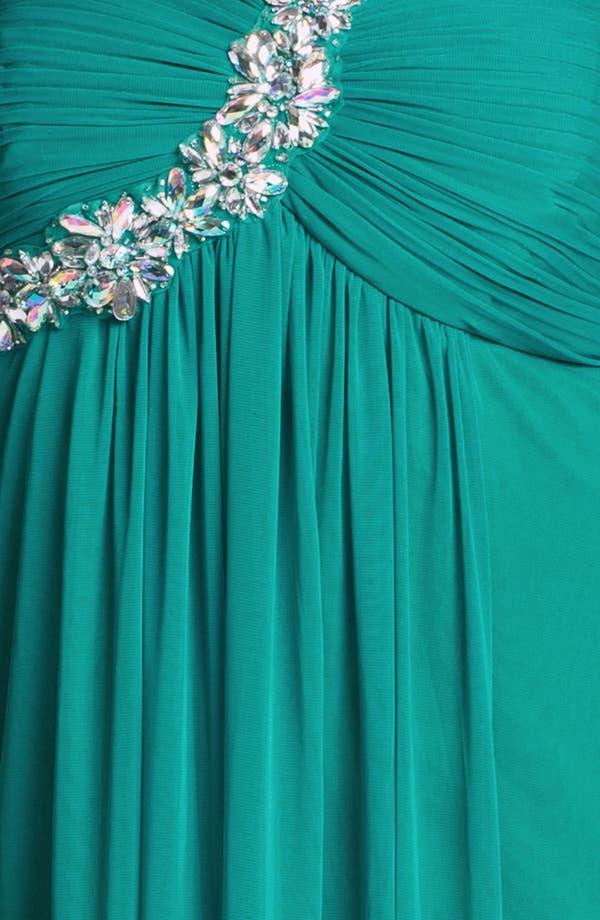 Alternate Image 3  - Xscape Embellished One Shoulder Gown (Plus Size) (Online Only)