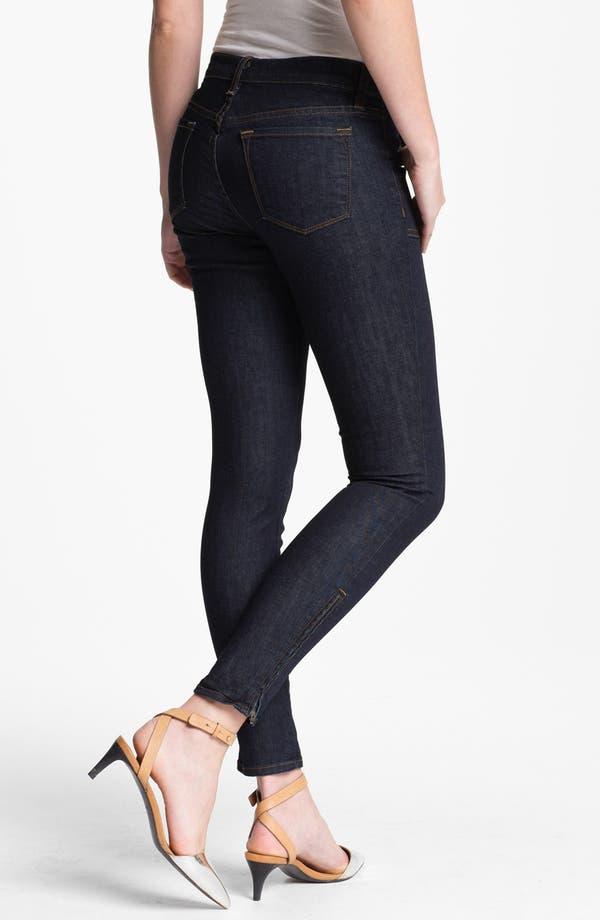 Alternate Image 2  - J Brand 'Retro' Skinny Ankle Zip Jeans (Clean Rinse)
