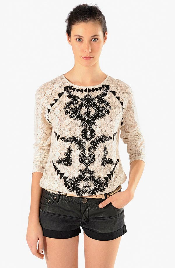 Alternate Image 1 Selected - maje 'Artiso' Lace Top