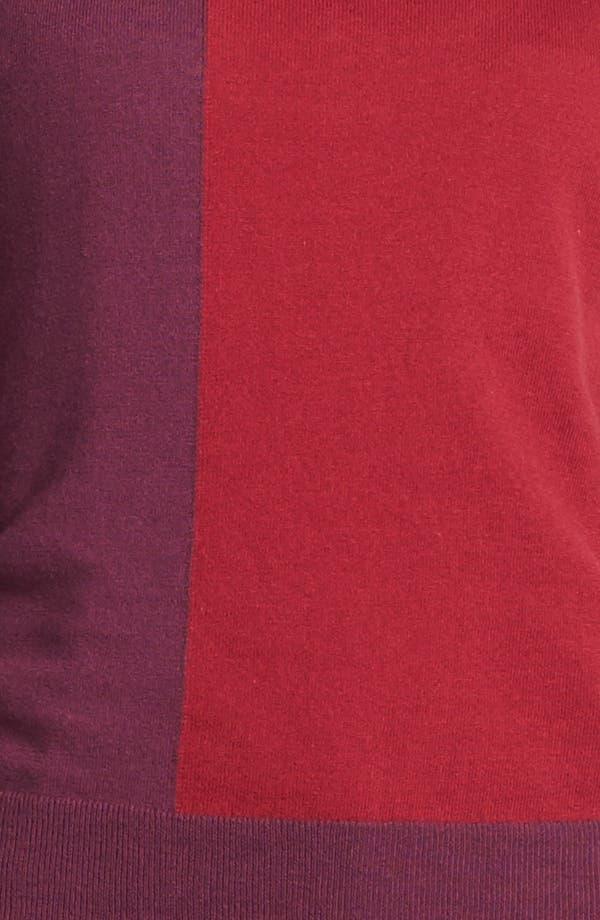 Alternate Image 4  - Amber Sun Zip Trim Colorblock Crewneck Sweater