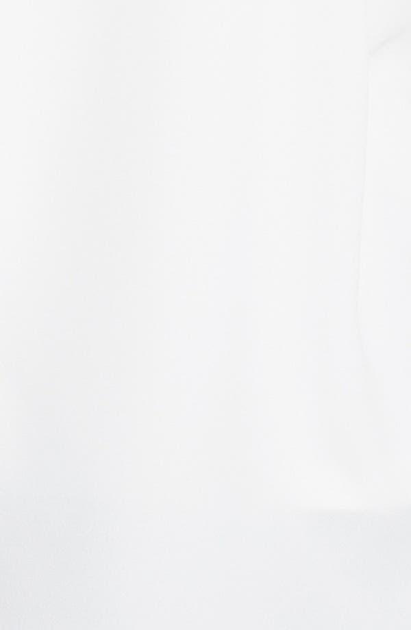 Alternate Image 3  - Halogen® Faux Leather Trim Blouse (Plus Size) (Online Only)
