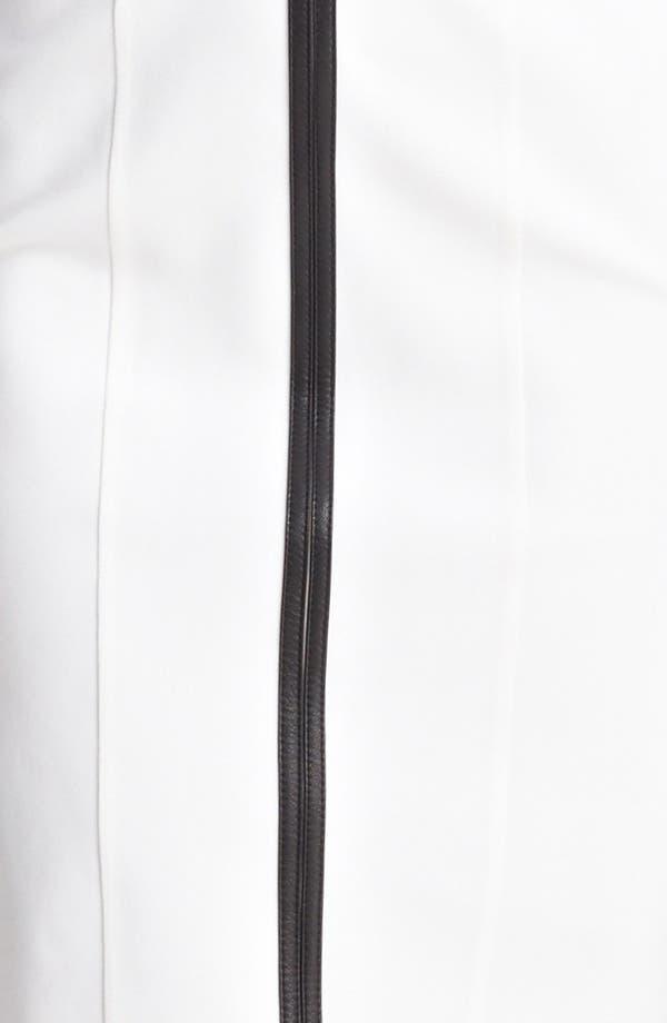 Alternate Image 3  - Burberry London Leather Trim Jersey Dress