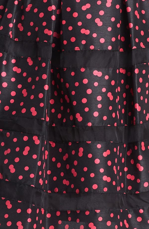 Alternate Image 3  - Taylor Dresses Belted Taffeta Fit & Flare Dress