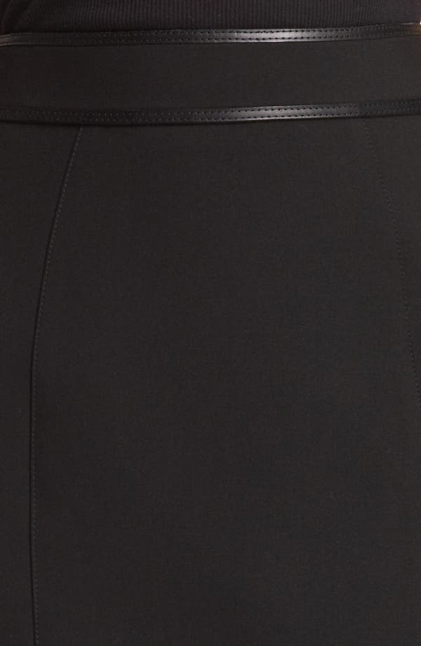 Alternate Image 4  - Burberry London Leather Detail Stretch Jersey Skirt