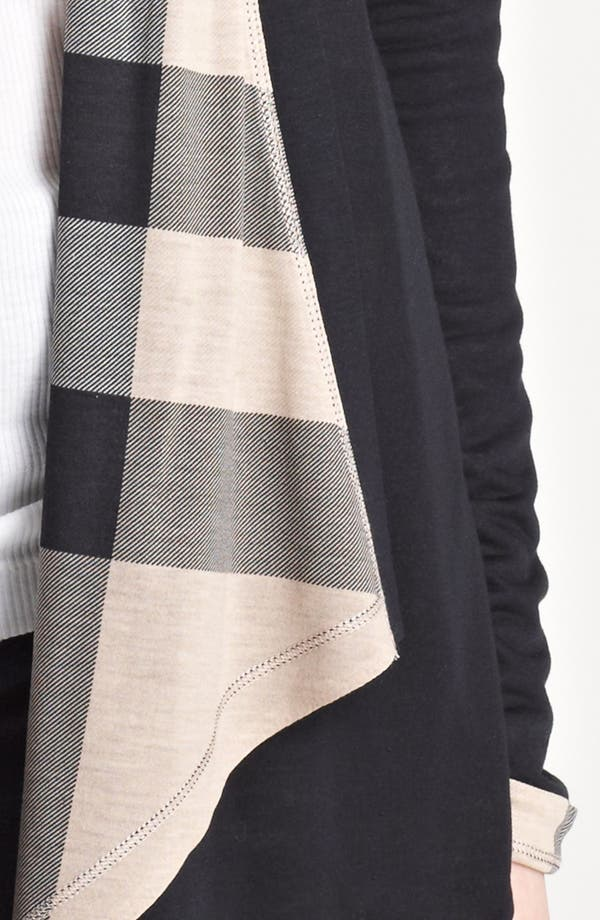 Alternate Image 3  - Burberry Brit Check Trim Drape Front Cardigan