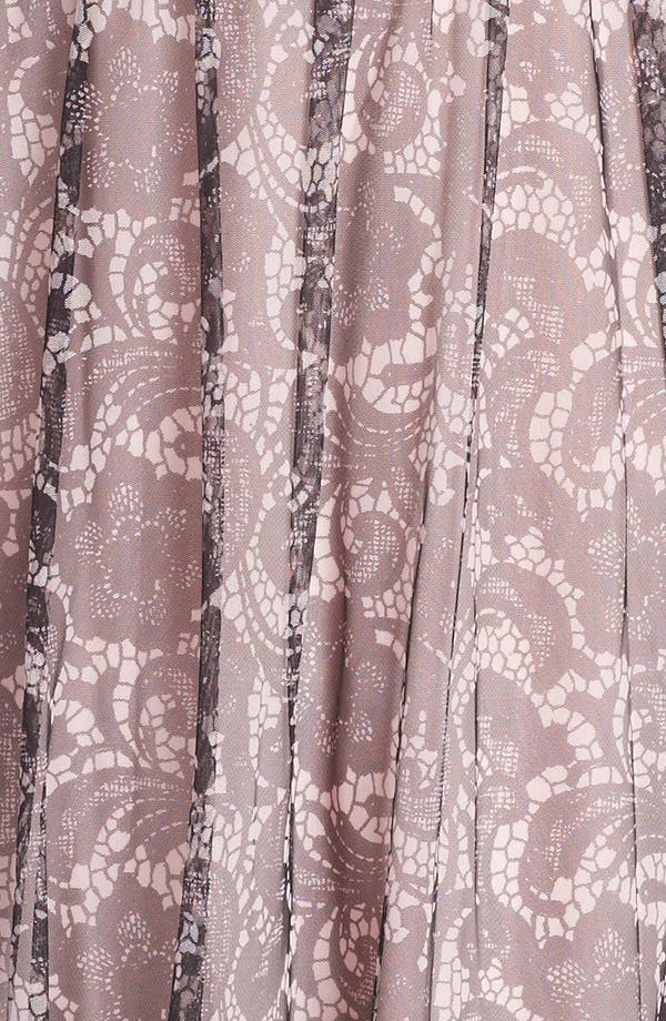 Alternate Image 3  - Adrianna Papell Lace Print Tulle Gown (Plus Size)