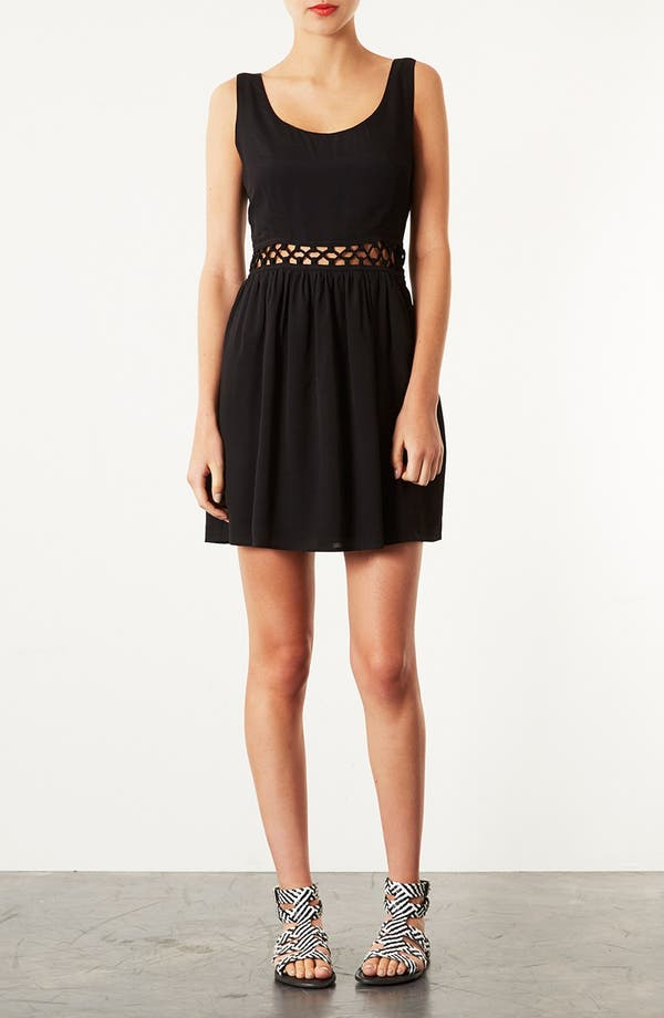 Main Image - Topshop Lace-Up Waist Dress