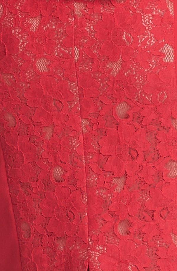 Alternate Image 3  - BCBGMAXAZRIA Lace Inset Peplum Sheath Dress
