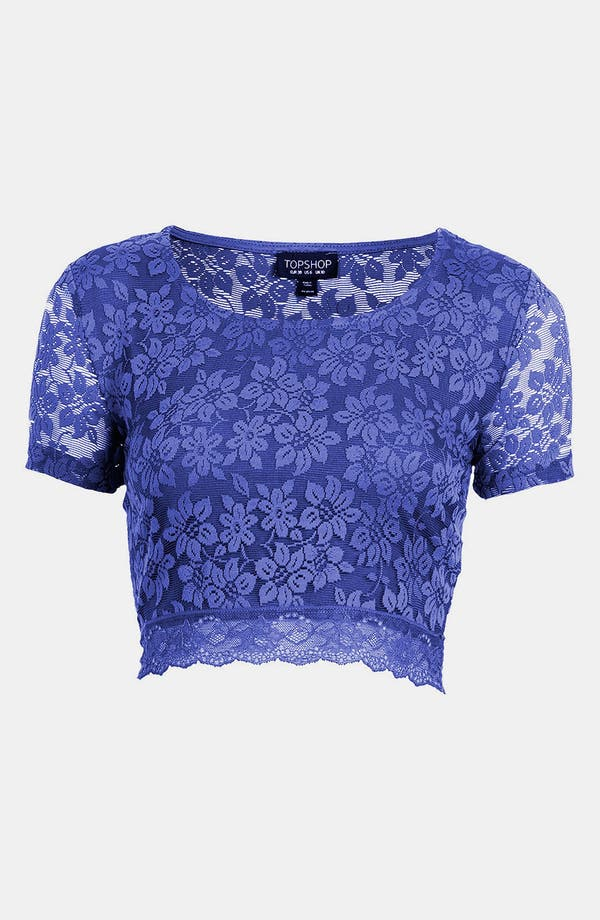 Main Image - Topshop Lace Crop Top