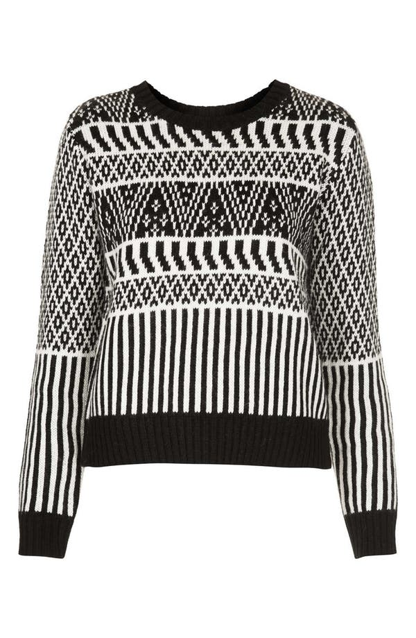 Alternate Image 3  - Topshop Two-Tone Jacquard Sweater
