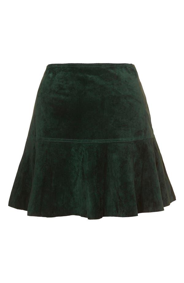 Main Image - Topshop Unique Flippy Suede Skirt