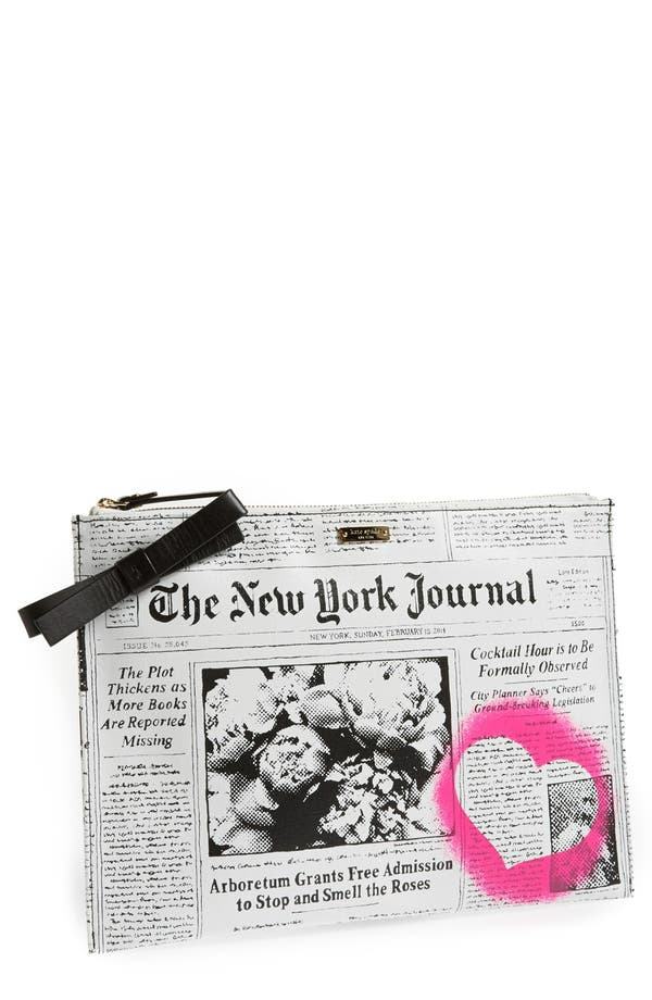 Alternate Image 1 Selected - kate spade new york 'new york journal' zip top pouch