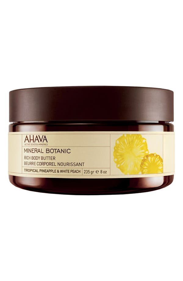 Main Image - AHAVA 'Tropical Pineapple & White Peach' Mineral Botanic Rich Body Butter