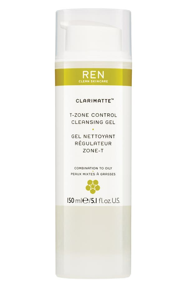 Alternate Image 1 Selected - REN 'Clarimatte™' T-Zone Control Cleansing Gel
