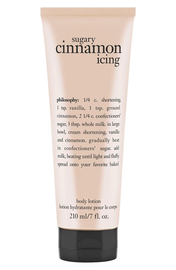 Alternate Image 1 Selected - philosophy 'sugary cinnamon icing' lotion