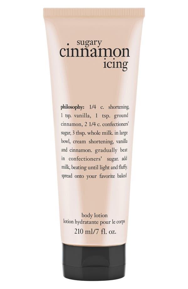 Main Image - philosophy 'sugary cinnamon icing' lotion
