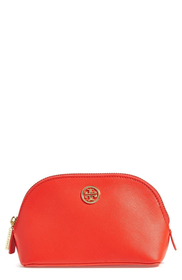 'Small Robinson' Cosmetics Case,                             Main thumbnail 1, color,                             Poppy Coral